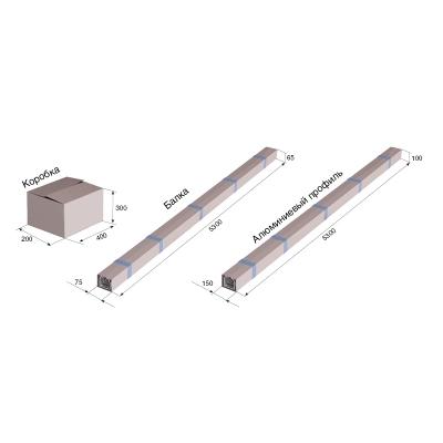 Набор профилей №3 для сборки сдвижных ворот 4000х2100 под заполнение профлист (Цвет: RAL8017)