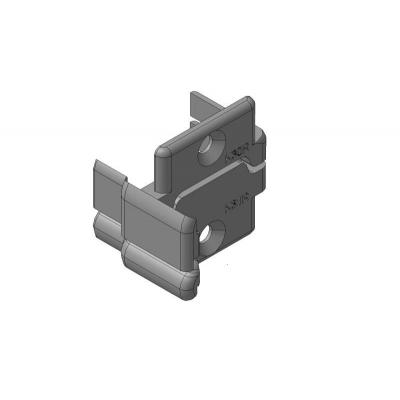 Заглушки алюминиевых Ц-профилей створки калиток секционных ворот