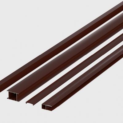 Комплект профилей сдвижных ворот №2 4000x2100 коричневые 8017