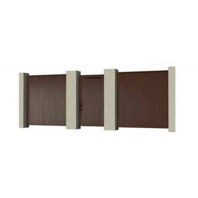 Комплект стандартной калитки №1 в алюминиевой раме с сэндвич панелью 1050х2100 RAL8017
