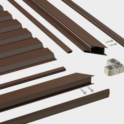 Набор №1 для сборки калитки отдельностоящей 1220x2100 RAL8017 под заполн. профл.(высота профля-1845)
