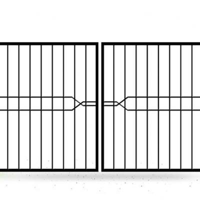 Распашные ворота из профильного прута