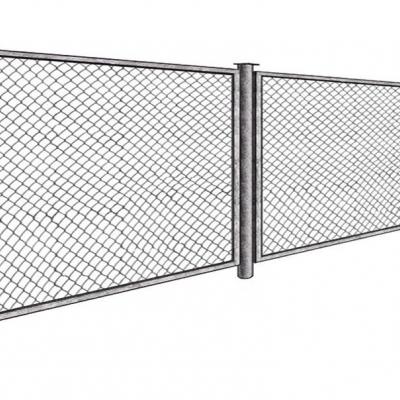 Забор сетка Рабица в секциях