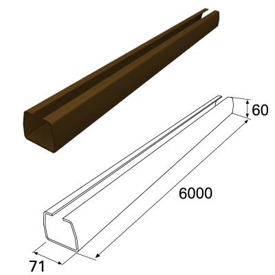 Балка прокатная 71х60 L=5470 RAL8017