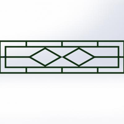Секционный забор газонный