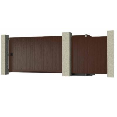Комплект №2 сдвижных ворот 4000х2100 коричневый RAL8017