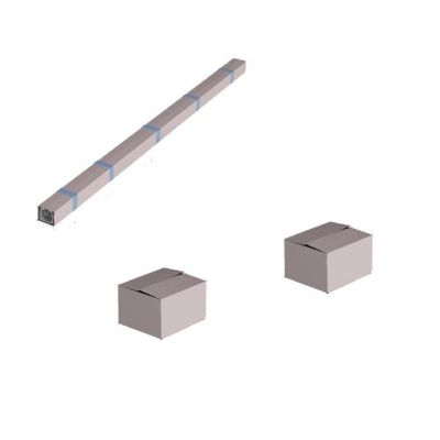 Система роликов и направляющих для балки х/к 95х88х5 L=7000мм