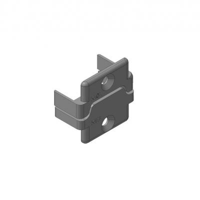 Заглушки алюминиевых П-профилей створки калиток секционных ворот